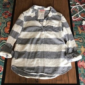 Striped 1/2 button up